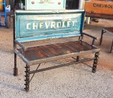 Old Chevy Truck Tailgate Bench by Recycled Salvage Design contact Ray 903.452.8761