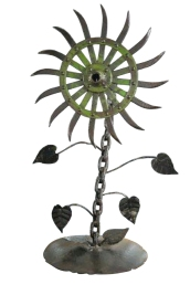 whimsical metal flower