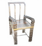 Unique Rustic Industrial Chic Arm Chair Wood Metal