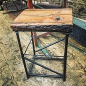 Rustic industrial Chic Table wood Metal Reclaimed Wood